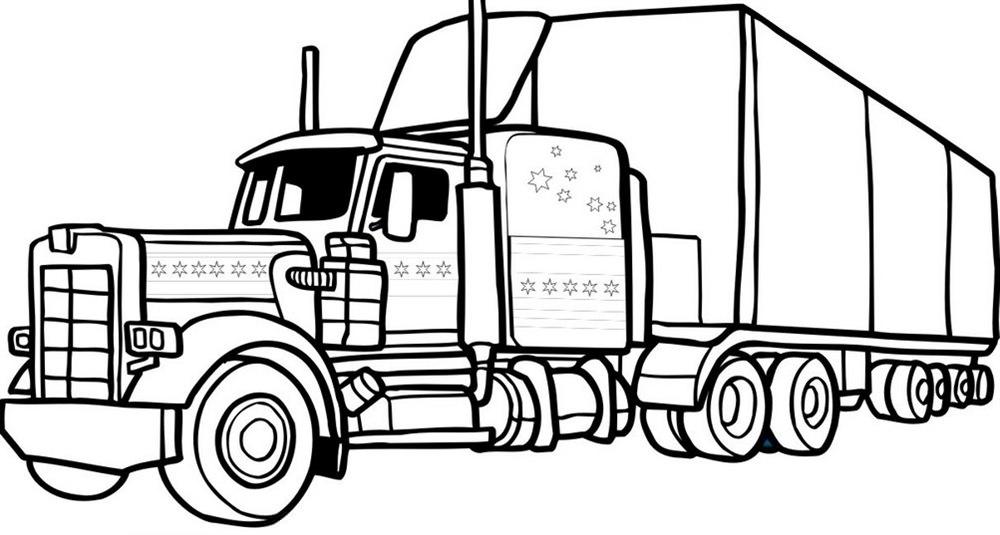 Розмальовка «Вантажівка» (39 фото)