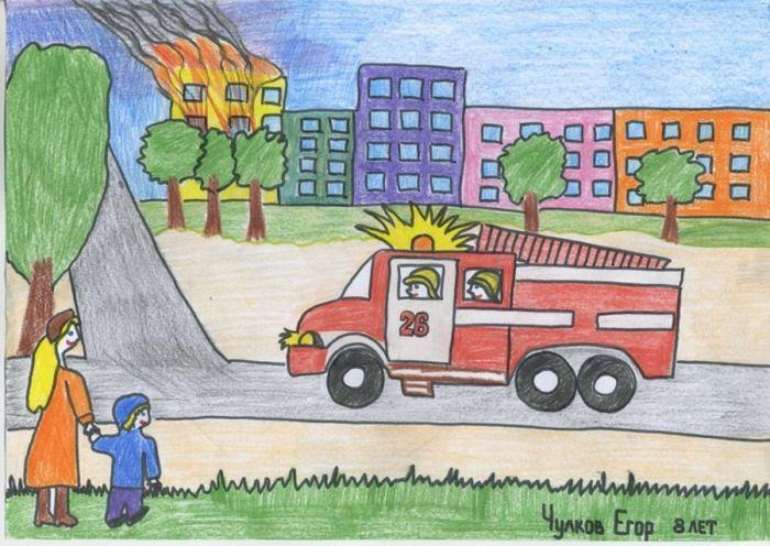 Малюнки для срисовки про пожежну безпеку (32 фото)