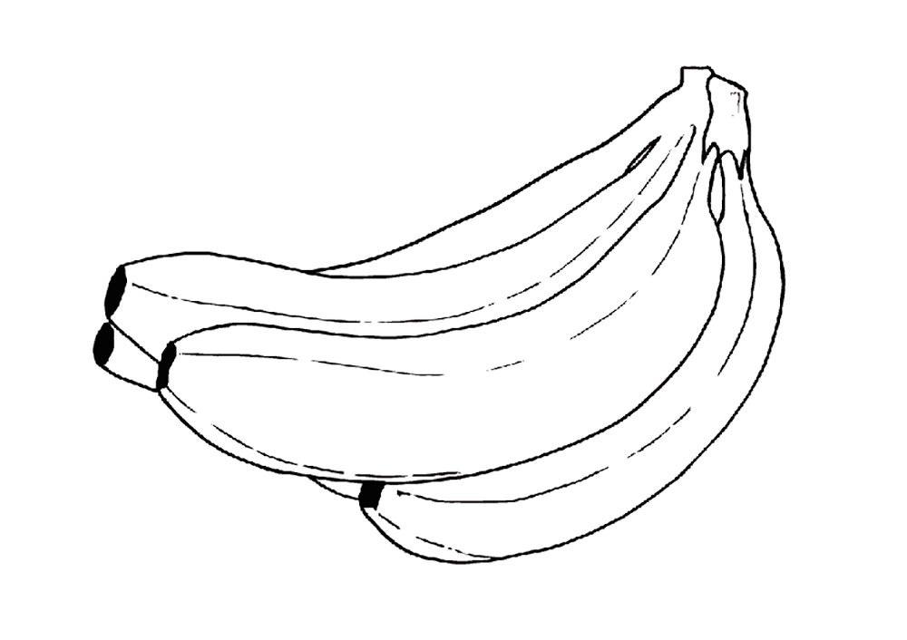 Розмальовки з бананом 27 фото